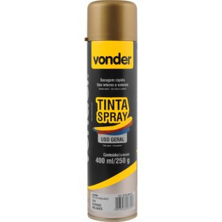 TINTA SPRAY DOURADO 400ML VONDER