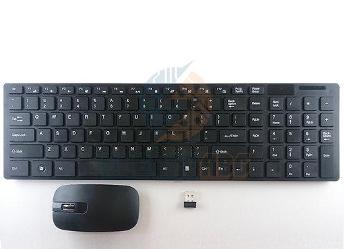 Teclado e Mouse sem fio preto
