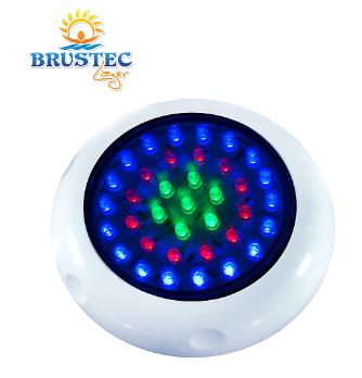 REFLETOR LED ABS RGB 37 LEDS ROSCA BSP PARA PISCINA