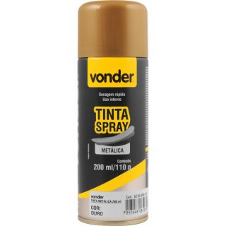TINTA SPRAY METALICA OURO   200ML VONDER