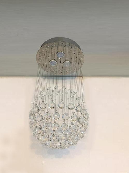 Lustre de cristal redondo 30cm x 60cm altura globo