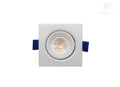 SPOT DOWNLIGHT LED COB 3W BQ QUADRADO
