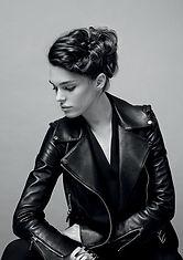 Brunette up style hair model