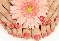Manicured finger and toe nails