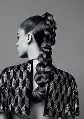 Brunette long hair model