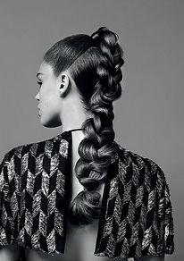 Brunette upstyled hair