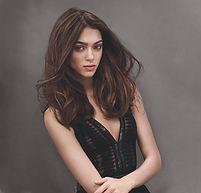 Long hair brunette hair model