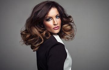 Brunette hair model