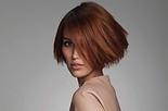Short red hair model