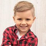 Blonde child hair model