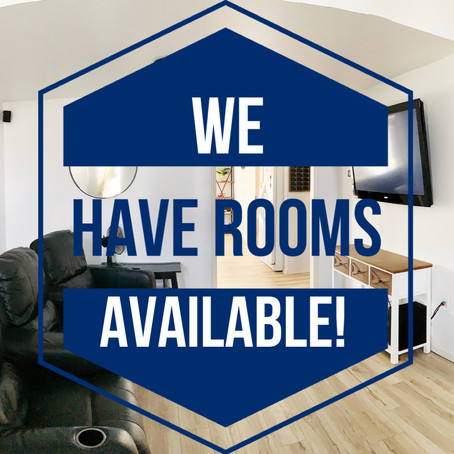 We have rooms available!
