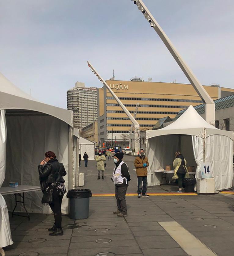 Place des Arts, Covid-19 test centre, March 25th