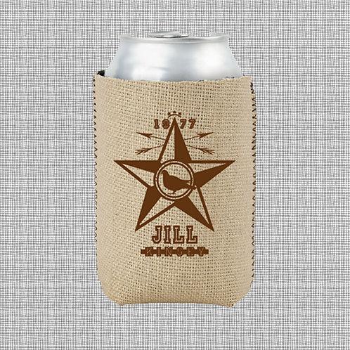 '1977 Star' - CAN COOLER (BURLAP)