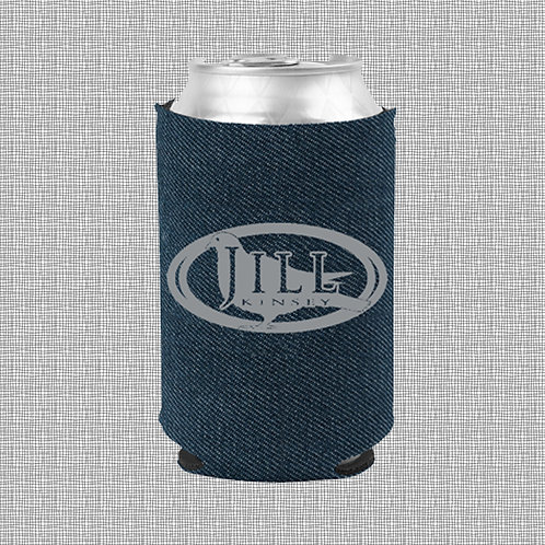 'Starry-eyed Pigeon' - CAN COOLER (DENIM)
