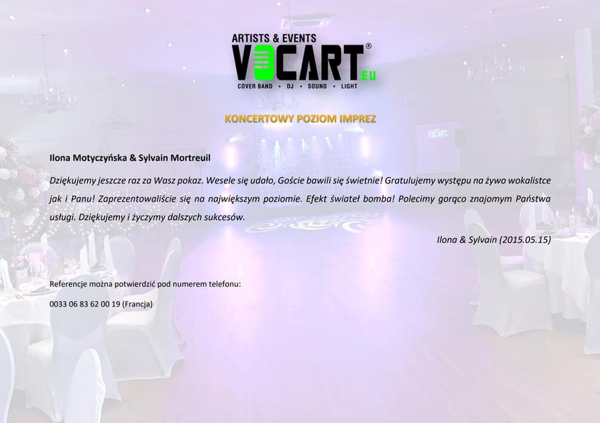 VOCART - Referencje - 2015.05.15 - Ilona