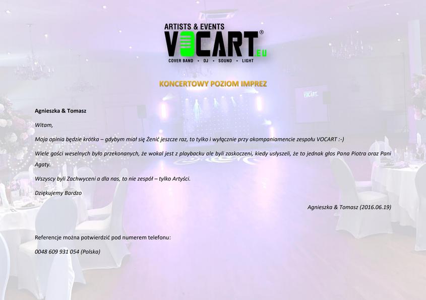 VOCART - Referencje - 2016.06.19 - Agnie