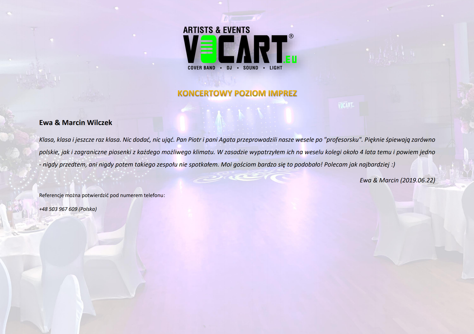 VOCART - Referencje - 2019.06.22 - Ewa &