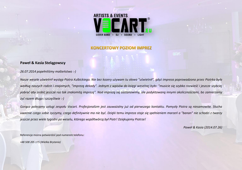 VOCART - Referencje - 2014.07.26 - Paweł