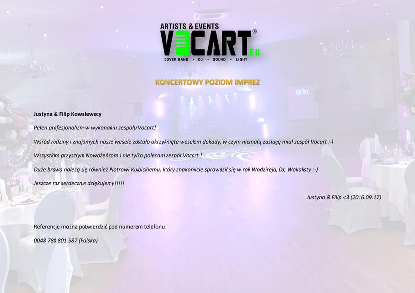 VOCART - Referencje - 2016.09.17 - Justy
