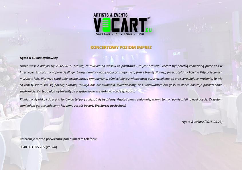VOCART - Referencje - 2015.05.23 - Agata