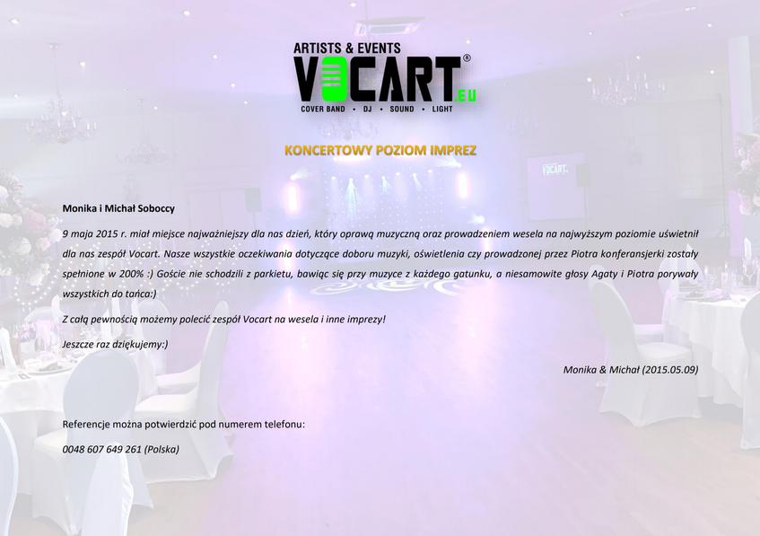 VOCART - Referencje - 2015.05.09 - Monik