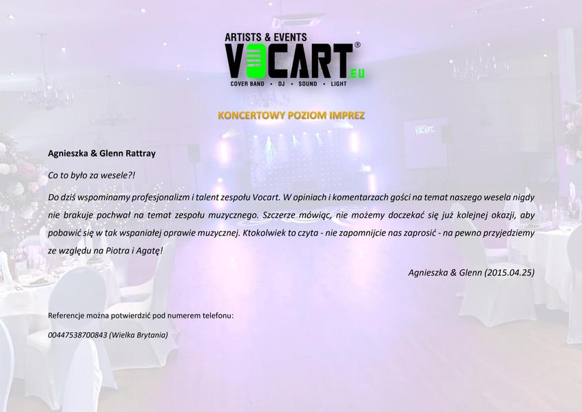 VOCART - Referencje - 2015.04.25 - Agnie