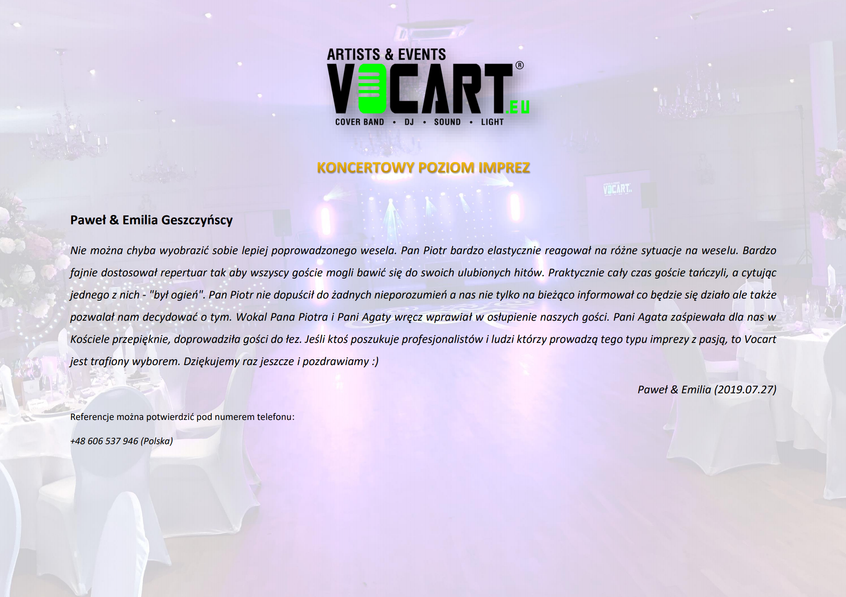 VOCART - Referencje - 2019.07.27 - Paweł