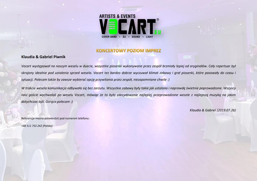 VOCART - Referencje - 2019.07.26 - Klaud