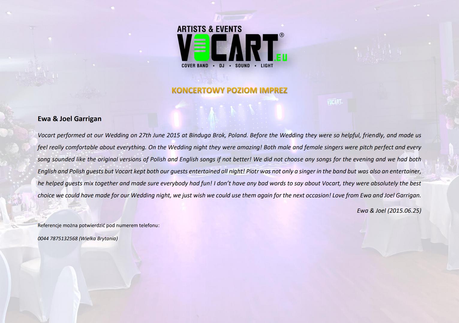 VOCART - Referencje - 2015.06.25 - Ewa &