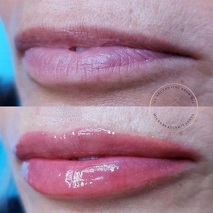Lip blush can restore youthful color, vo