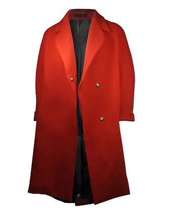 Heated Cashmere Coat Red