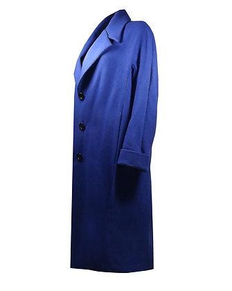 Heated Cashmere Coat Blue