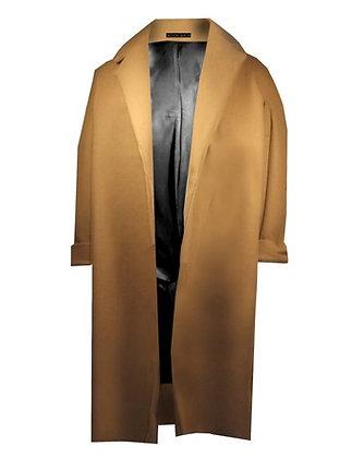Heated Cashmere Coat Beige