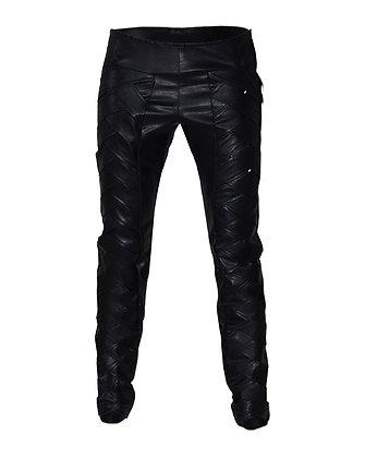 Faux Leather Pants Plaited
