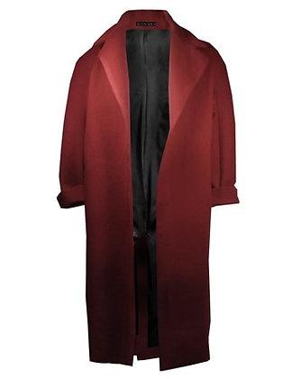 Heated Cashmere Coat Burgundy