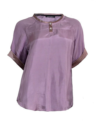 SILK BLOUSE WITH BUTTONS VIOLET