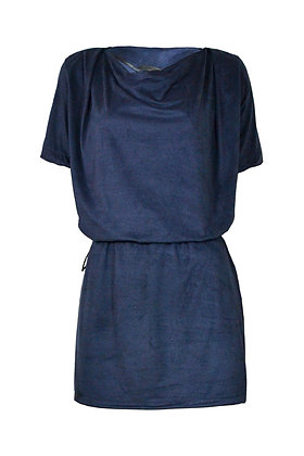 ALCANTARA DRESS DRAWSTRING NAVY