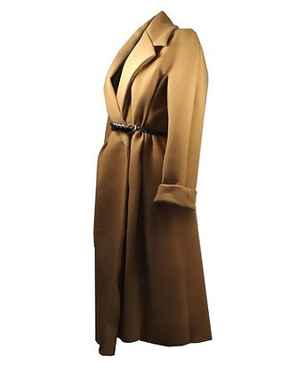 Heated Cashmere Coat Beige