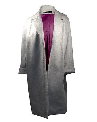 Heated Cashmere Coat Grey