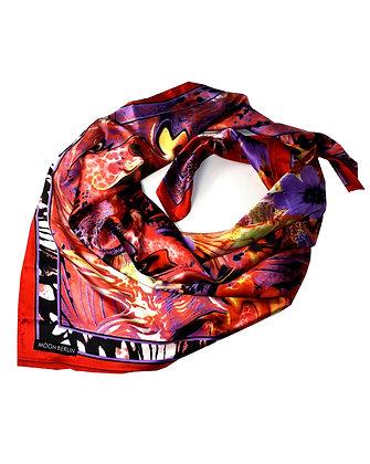 Tropical Flower Silk Scarf