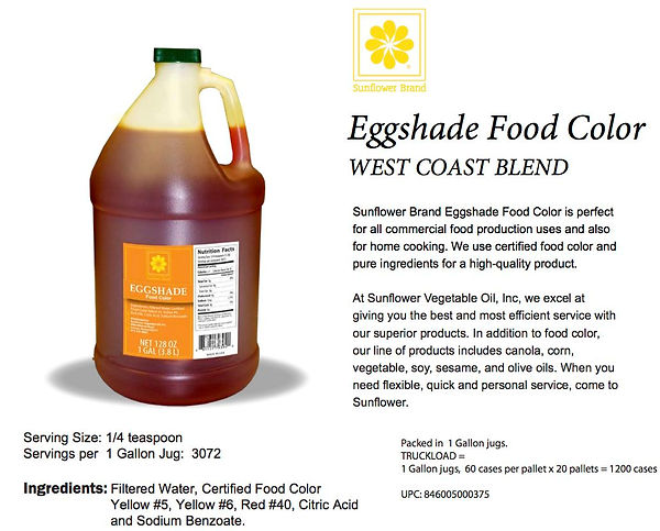 Food Color Eggshade WC 1 Gal (Sunflower)
