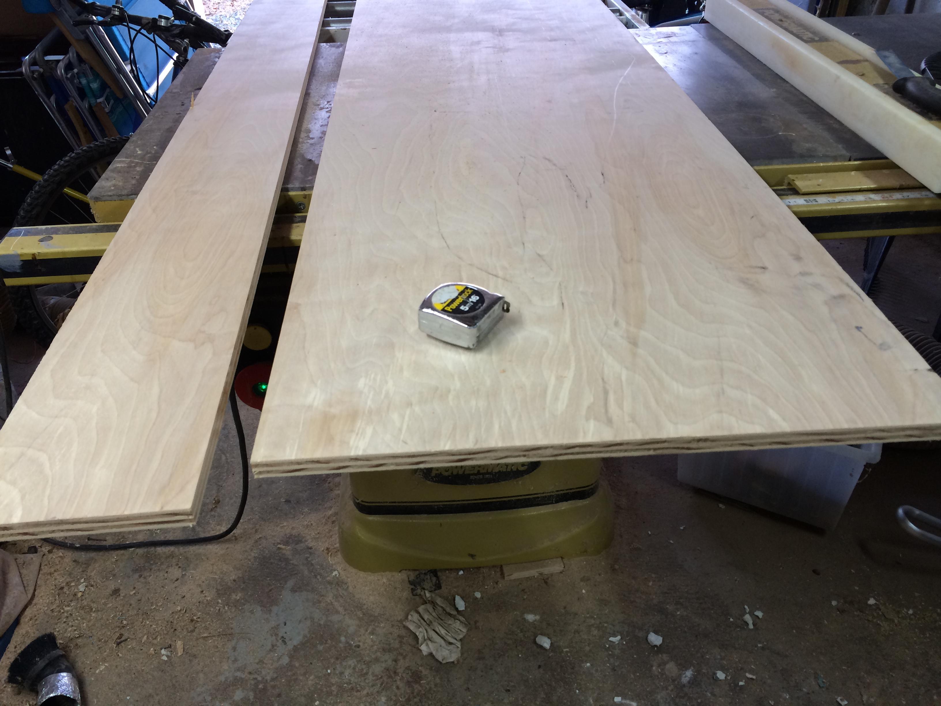 plywood...