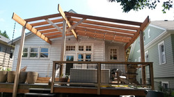 new deck and shade