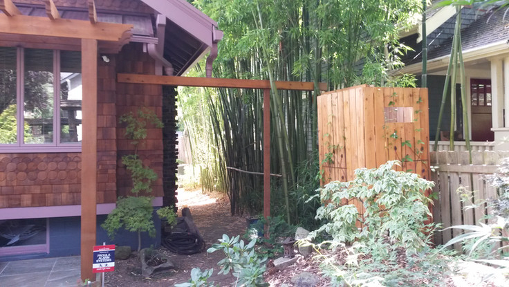 cistern screen and trellis