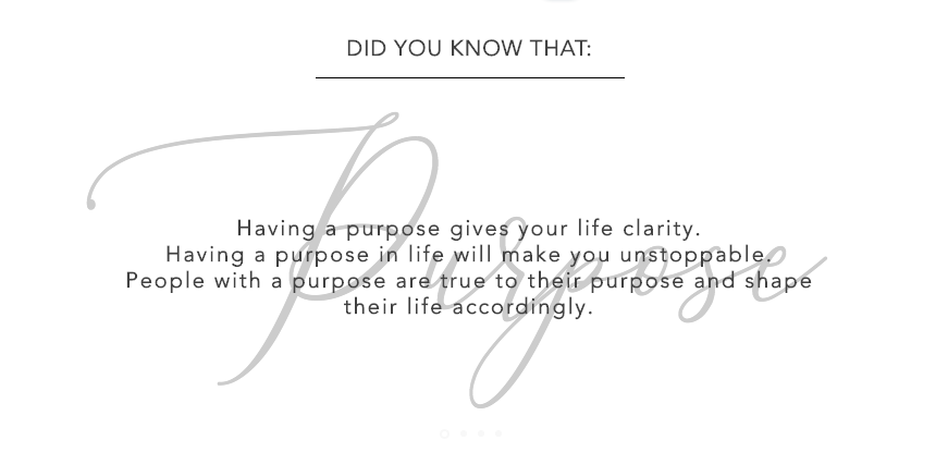 The Power in having a Purpose