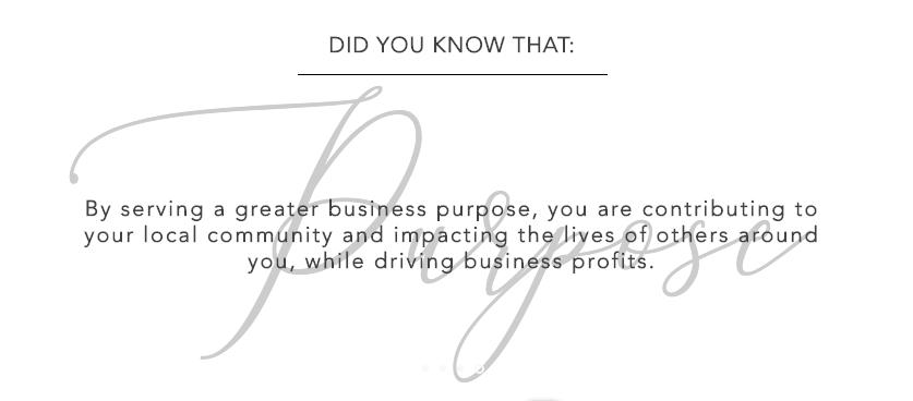 The Power of Profit through Purpose