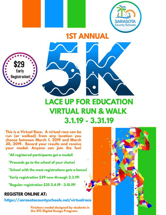 Lace up for Education virtual marathon