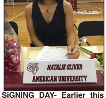 For college soccer, Oliver picks American University