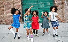 Bailar americana Niños de África