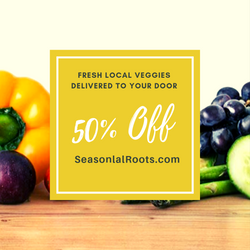 50% Off Membership to Seasonal Roots local veggie delivery service